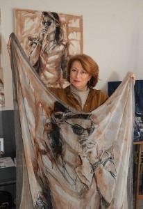 foulard + dipinto