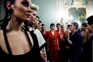 Michele Migliionico e le modelle