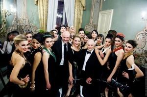 Mimmo Burdi con modelle,  Roberto Guarducci e Carmen Martorana