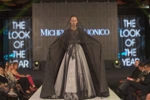 Foto vincitrice modella Mia Maretic indossa abito Michele Miglionico HC.2 rid (1)