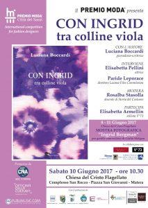 Locandina (rid) presentazione libro (Con Ingrid tra le colline viola)
