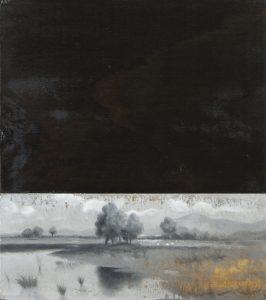 Giuseppe Vassallo, P.S. Stagnone o omaggio ad F.J. - olio su tavola - 31 x 35 cm - 2017