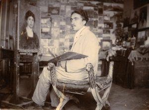 Guido Di Renzo nel suo studio
